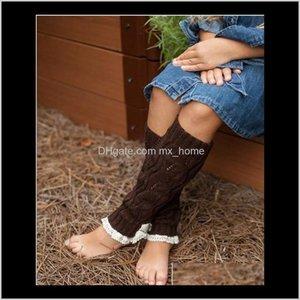 Christmas 3010Cm Long Knit Lace Shark Tank Leg Warmers Boot Cuffs Toppers For Kids Winter Warm Socks K5515 A87Bz Ozvta