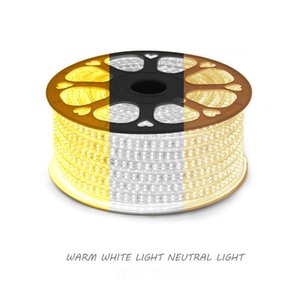 Strips LED Strip Light 3 Color RGB Flexible Ribbon Bar Household Changing Living Room Ceiling Neon With Plug