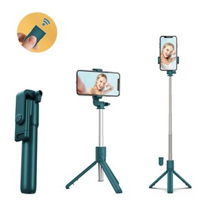 Selfie Monopods 3 In 1 Wireless Bluetooth Stick Mini Tripod Foldable Universal For Smartphone Bleutooth Shutter Remote