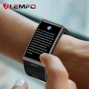 Tasarımcı İzle Marka Saatler Lüks İzle 20 Ekran Lemfo DM12 Akıllı Erkekler IP68 Su Geçirmez Spor Kalp Hızı Kan Basıncı Android