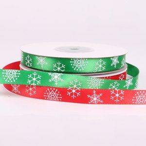 25Yards Roll Christmas Ribbon Chrismas Wedding Decoration Cake Candy Box Packaging Wrap Gift DIY Packaging Ribbons Party Supplies DBC DH2608