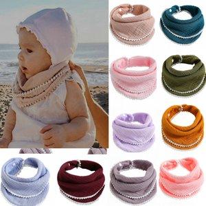 Lace Overlock Baby Infants Gauze Bib Scarf Water Towel Bath Wash handkerchief Soft Toddlers Newborn Children's Bandana Burp Cloth Feeding Saliva Towels G4WST68