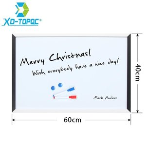Whiteboards XINDI 40*60cm Magnetic White Board MDF Black & Frame Wooden Drawing Whiteboard Decorative Message Boards WB10