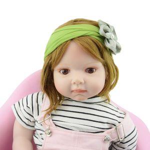 Flower Headband Hair Accessories with Pearl Baby Girl Soft Headbands Princess kids Hairbands head band designer Newborn Turban Headwear