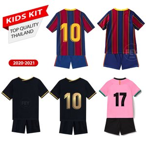 baby clothes Kids kit Soccer Jersey Uniform MESSI GRIEZMANN F.DE JONG Originals Personalized Custom 2020-21 Football jerseys Survetement Uniforms Sports