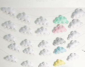 Nuvens Suspensão Drop Pingente Decoração Quarto De Bebê Decoração Nórdica Parede Pendurado Ornamento Para Fotografia Adereços Sala Doméstica Adornament BWC7004
