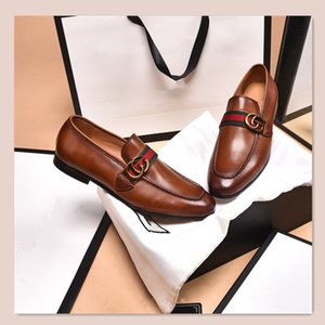 2021High quality Formal Dress Shoes For Men Black Genuine Leather Shoes Pointed Toe Mens Business Oxfords Casual shoesssss