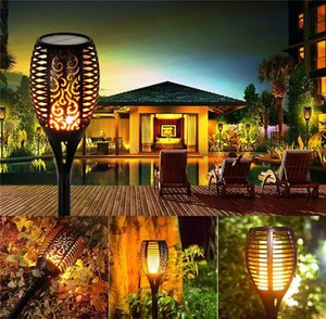 Streamers Flame Lamp LED Solar Lights Outdoor IP65 Waterproof Garden Light Flickering Flames Torches Lamps for Courtyard Gardens Balcony