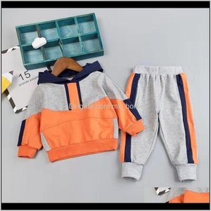 Sets Clothing Baby, Kids & Maternity Drop Delivery 2021 Kid Clothes Set For Girl Casual Sportswear Fashion Patchwork Baby Boy T Shirt + Pants