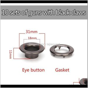 Beads Garment Claw Eyelets Sier Gun Black 20 Eye Buttonhand Tapping Tool 10 Sets 8177Mm 183111Mm Iron Stainless Steel Wmtgng 2Wz7G Wz6Uq
