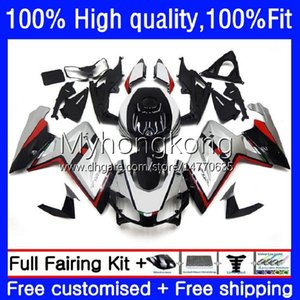 Injection Fairings For Aprilia RS-125 RS4 RSV Silver black 125 RS 125 RR 125RR RSV-125 8No.25 RSV125 RS125 R 06 07 08 09 10 11 RSV125RR 2006 2007 2008 2009 2010 2011 OEM Body