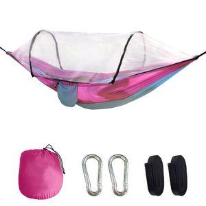 Colore congiunto Nylon Paracadute Amaca con zanzariere Camping Survival Garden Garden Swing Tempo libero Travel Mobili da esterno portatile