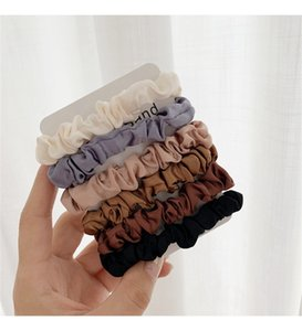 Scrunchie Hairbands Hair Tie Mujer para accesorios para el cabello Satin Scrunchies Stretch Ponytail Partners Hecho a mano Regalo HEANDBAND BY1339 78 Y2