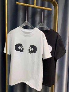 Men's designer 2021 summer men and women's cotton T shirt loose couple Italian style simple skull hip hop short sleeve S-XXL.