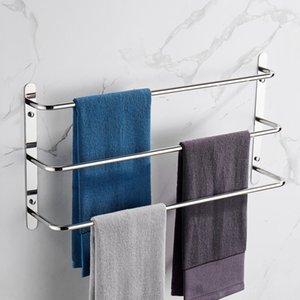 Tres toallas Toallas Rack 304 Acero inoxidable Polidado brillante Capas de escalera de toalla Barras de toallas Accesorio de baño multifuncional montado en la pared