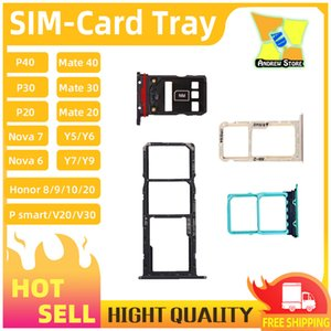 100pcs SIM Card Tray Holder Slot for HUAWEI MATE 20 P30 PRO P40 NOVA 3E Y9 2019 HONOR 10 Y52019 V9 SIM Holder Slot Tray Container Adapter
