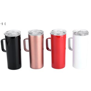 15oz skinny tumbler with handle 15oz Stainless steel Beer Mug Double wall insulated Cold vacuum Drinking tumblers Coffee SEAWAY RRF10196