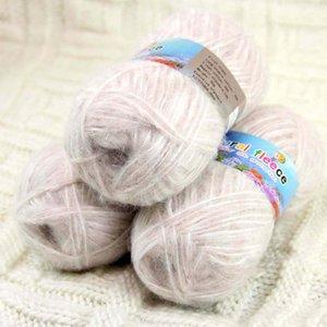 Продажа 3ballsx50g Пушистая мягкая хлопчатобумажная пряжа обернуть шарфы дома декор вязание белый 822-05-3