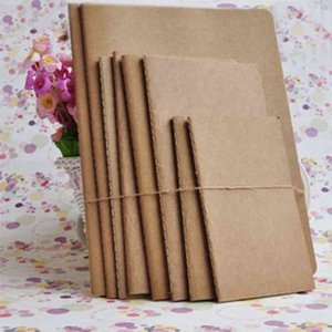 Kraft Paper Notebook Blank Notepad Retro Soft Copybook Daily Memos Kraft Paper Cover Graffiti Daily Paper Journal Stationery BH1766 CY