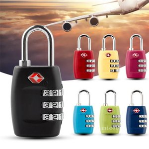 Door Locks Customs Luggage Padlock TSA335 Resettable Digit Combination Padlock Suitcase Travel Lock TSA locksZC544
