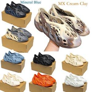 kanye slides west Sandal slippers Foam Runner Summer Desert Mineral Blue Moon Gray Triple Bone Cream Clay MXT Grey Ararat resin Brown