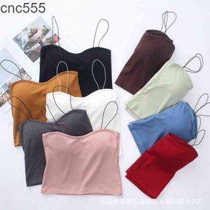 9 Colors Bras for Women Casual Comfortable Tank Tops Sexy Girls Fashion Solid Color Tube Top Camis Wireless Cotton Underwear