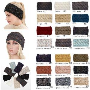 Knit Hairband Crochet Headband Knitting Hairband Warmer Winter Head Wrap Headwrap Ear Warmer Bandanas Hair Accessories 21colors