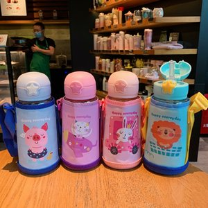 Children's Cartoon Portable Large Capacity Plastic Water Cup Fantastic Summer Cute Strap high quality 700ml Kettle