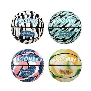 Basketball graffiti ball tie dye full print color spray personalized fancy cool net No. 7 black and white blue red