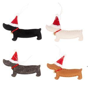 Christmas Decorations Happy Year Ornaments Dachshund Dog Tree Decoration Doll Home Decor Xmas Gift DHB10779