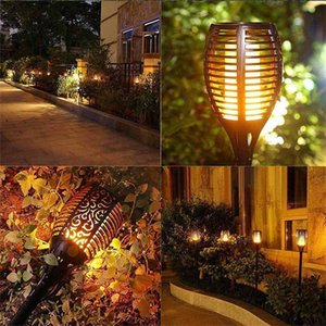 12 96LED Solar Flame Torch Light Flickering Waterproof Garden Decor Landscape Lawn Lamp Path Lighting backyard Outdoor Lights