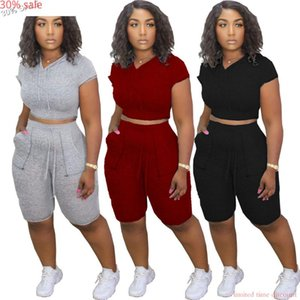 Fashion Women Set Tracksuit Cropped Hoodie 2 Piece Shorts 2021 Summer Woman Joggers And Hoodies Corp Top Short Pants Women's Tracksuits