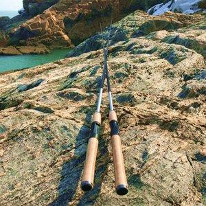 Canne da pesca per barche 1.8m 2.1m 2 asta di segmenti Avere esca di fusione del carbonio di filatura di potenza
