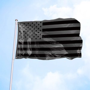 3x5 Ft All Black American Flag Polyester 2 Durable Metal Grommets US Black Flags Historical Protection Banner Outdoor Indoor Decoration JY0715