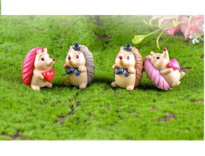 mini cake toppers mix hedgehog microlandschaft capsule toys for kids