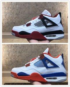 عودة 4 og النار الاسمنت الرجال كرة السلة جودة عالية 4S أبيض أحمر أسود رياضية رياضية أحذية رجالي حجم 8-12