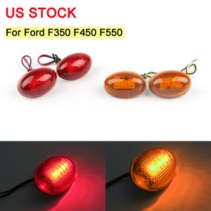 4pc Car Bulbs Amber Red Side Fender Marker LED Light For Ford F350 F450 F550 Truck 1999-2010