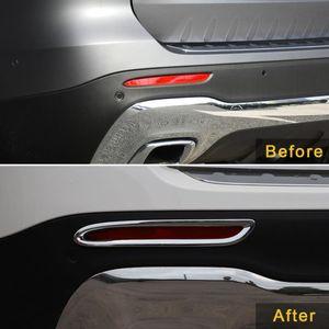 Für 2021-2021 Gloss CarMango X247 GLB-Klasse Car-Kreis-Zubehör Nebelscheinwerfer Mercedes-Benz Heckdeckel Chromrahmen Aufkleber Trim Dhvgk
