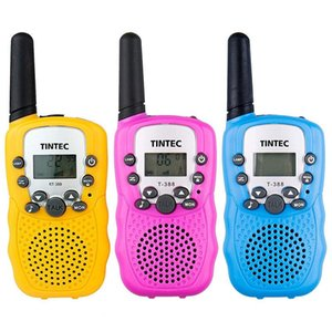 Walkie Talkie 3pcs set For Children Blue Pink Yellow Wireless Call Kids Outdoor Sports Christmas Gift