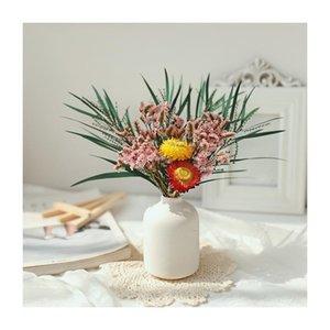 Gypsophila Dried Flower Bouquet With Porcelain Vase Flowers Branches Stems Greenery Decor JS23 Decorative & Wreaths