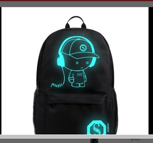 PP-Fashion selling Computer bag for middle school students schoolbag men and women luminous USB outdoor casual backpacks cross-border Korean version