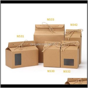 Gift Wrap Event Festive Party Supplies Home & Garden Drop Delivery 2021 Packaging Cardboard Kraft Folded Nut Tea Box Food Storage Standing Up