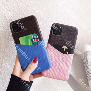 L fashion phone cases for iphone 12 pro max 11 11Pro 11proMax 7 8 plus designer cover X XR XS XSMAX with card case