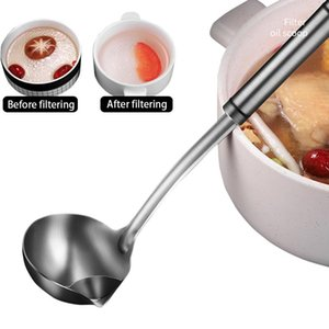 Kitchen Accessories Stainless Steel Oil Filter Spoon Soup Separator To Remove Drink Skimming Mother And Baby Ca Spoons