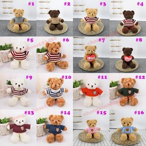 2021 30CM Teddy Bear Doll Plush Toys Soft Christmas Stuffed Animals Children's Birthday Gifts Couple Confession Gift Supplies Wholesale