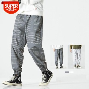 Men Letter Printed Harem Pants Trousers Streetwear Punk Cargo Pant Hip Hop Casual Joggers Hombre Dropshipping #LI8j