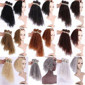 70g 1 pc Synthetic Kinkycurly Hair Welf Brazilian Human Bundles Curly clip-on