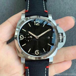 Высочайшее качество нижняя крышка Orologio di lusso vs 44 мм pam1025 часы 9010 механическое движение кожаный ремешок, супер люминесцентные мужские часы Wat