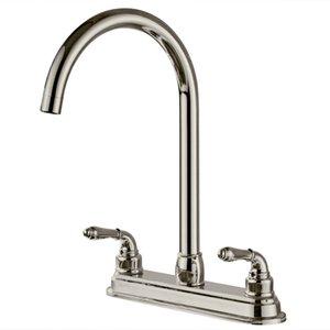 2 Holes Kitchen Fixed Faucet Washerless cartridges 1 2