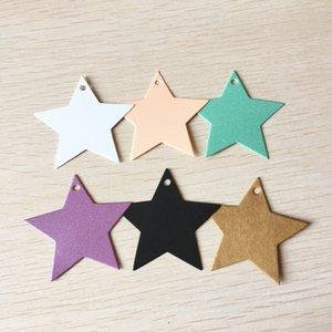 100 Pcs Five-pointed Star Kraft Paper Hang Tag Gift DIY Hanging Tag Price Wedding Luggage Name Label Card